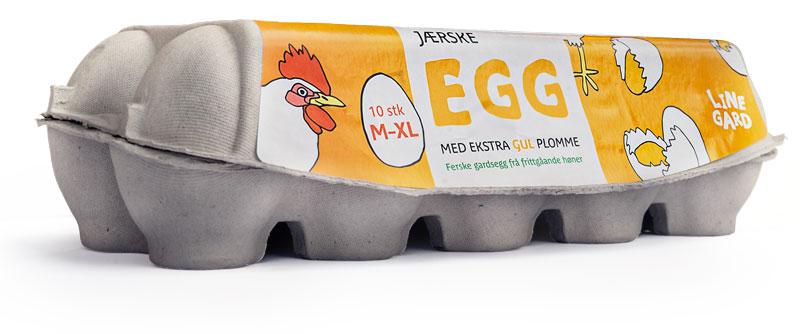 Eggekartong fra Jærske Egg